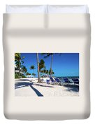 Tranquility Bay Beach Paradise Duvet Cover