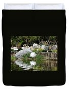 Tranquility In The Japanese Garden Duvet Cover