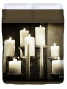 Tranquility Of Candlelight Duvet Cover