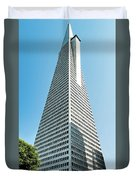 Transamerica Pyramid In San Francisco, California Duvet Cover