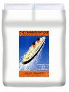 Transatlantic Ocean Liner Duvet Cover