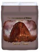 Transcendent Devils Tower 2 Duvet Cover