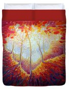 Transference Of Life Duvet Cover