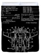 Transformers Patent - Black And White Duvet Cover