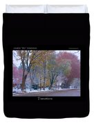 Transitions Autumn To Winter Snow Poster Duvet Cover