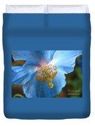 Translucent Blue Poppy Duvet Cover by Carol Groenen