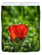 Translucent Poppy Duvet Cover