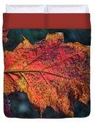 Translucent Red Oak Leaf Study Duvet Cover