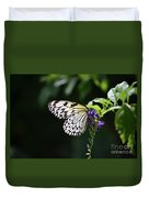 Translucent Wings On A Rice Paper Butterfly Duvet Cover