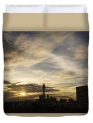 Transpicuous Balcony Sunset #0010 Duvet Cover