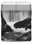 Trap Falls In Ashby Ma Black And White 6 Duvet Cover