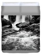 Trap Falls In Ashby Ma Black And White 1 Duvet Cover