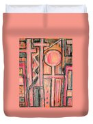 Trappings Of Love Abstract Art Painting  Duvet Cover