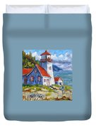 Traps And Lighthouse Duvet Cover