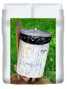 Trash Can Abstract. Duvet Cover
