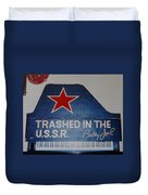 Trashed In The U S S R Duvet Cover
