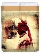 Travel Exotic Headgear Waiter Portrait Mehrangarh Fort India Rajasthan 2a Duvet Cover