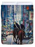 Travel Notebook. New York. Third Day Duvet Cover