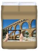 Travel To Pont Du Gard  Duvet Cover