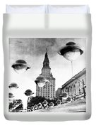 Travelers Insurance Tower Duvet Cover
