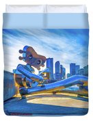 Traveling Man Chilin Duvet Cover