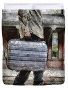 Traveling Man Duvet Cover