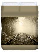 Traveling On The Tracks Antique Duvet Cover