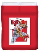 Travis Kelce Kansas City Chiefs Oil Art Duvet Cover