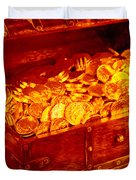 Treasure Chest With Gold Coins Duvet Cover