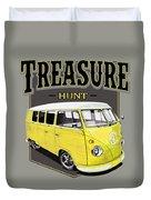 Treasure Hunt Bus Duvet Cover