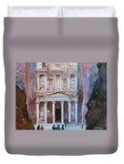 Treasury Building Petra Jordan Duvet Cover