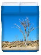 Tree And A Dune Duvet Cover
