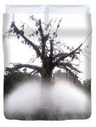 Tree And Fountain Duvet Cover