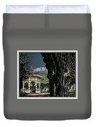 Tree And Gazebo Duvet Cover