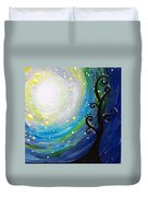 Tree And Moonstars Duvet Cover