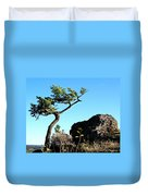 Tree And Rock Duvet Cover
