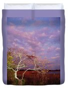 Tree And Sky At Cape May Point State Park  Nj Duvet Cover