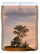 Tree At Dusk On Suomenlinna Island Duvet Cover