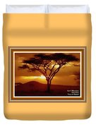 Tree At Sunset. L A With Decorative Ornate Printed Frame. Duvet Cover
