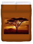 Tree At Sunset. L B Duvet Cover