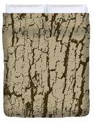 Tree Bark Texture Brown Duvet Cover
