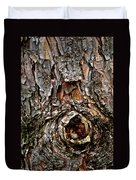 Tree Bark With Knothole Duvet Cover