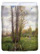 Tree Beside Water  Duvet Cover by Ernest Le Villain