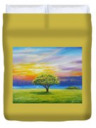 Tree By The Beach Duvet Cover