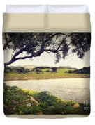 Tree By The Lake Duvet Cover