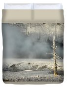Tree By The Thermal - Yellowstone Duvet Cover