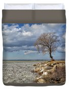 Tree By Water Duvet Cover