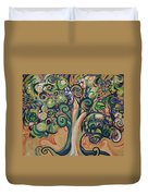 Tree Candy Duvet Cover by Genevieve Esson