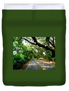 Tree Covered Road Duvet Cover