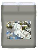 Tree Floral Garden White Magnolia Duvet Cover